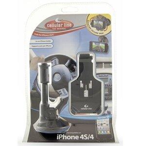 Uchwyt na telefon CELLULAR LINE CrabiPhone4 Czarny
