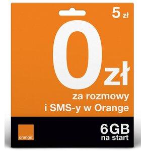 Pakiet startowy ORANGE One 5 zł