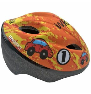 Kaskrowerowy ENERO Car Pomarańczowy dla dzieci (rozmiar M)