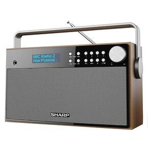 Radio SHARP DR-P350 Brązowy