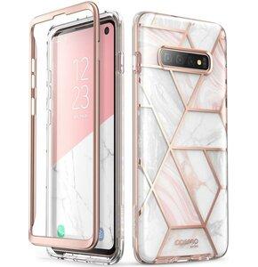 Etui SUPCASE Cosmo do Samsung Galaxy S10 Różowo-biały