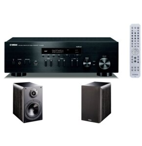 Zestaw stereo YAMAHA MusicCast R-N402D Czarny + INDIANA LINE Nota 260X Czarny