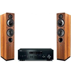 Zestaw stereo YAMAHA R-N402D BL + INDIANA LINE Tesi 561 Orzech