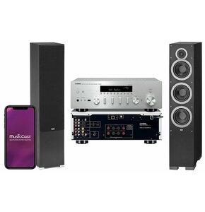 Zestaw stereo YAMAHA MusicCast R-N602 Czarny + ELAC Debut 2.0 F6.2 Czarny