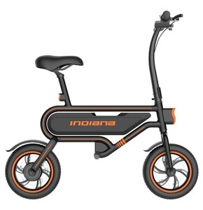 Rower elektryczny INDIANA E-ScooterM14 12 cali męski Czarny