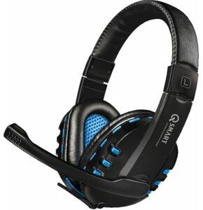 Słuchawki Q-SMART QSHPS004 Czarno-niebieski