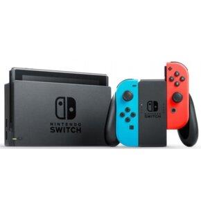 Konsola NINTENDO Switch HAC-001(-01) + Kontroler Switch Czerwono-niebieski