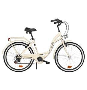 Rower miejski DAWSTAR Citybike S7B 26 cali damski Capuccino