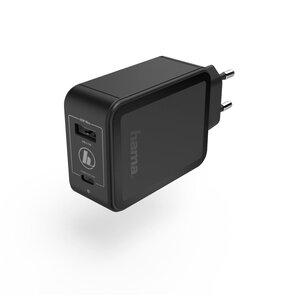 Ładowarka sieciowa HAMA Qualcomm Quick Charge/Power Delivery Czarny