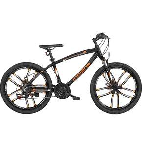 Rower młodzieżowy INDIANA X-Rock 2.424 cale dla chłopca Czarno-pomarańczowy