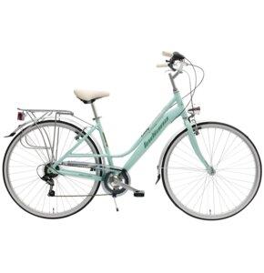 Rower miejski INDIANA Nuvola 7B 28 cali damski Zielony