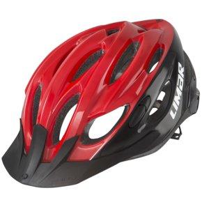Kask rowerowy LIMAR Scrambler Czarno-czerwony MTB (rozmiar L)