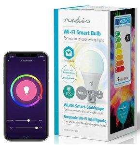 Inteligentna żarówka LED NEDIS WIFILW10WTB22 9W B22 WiFi