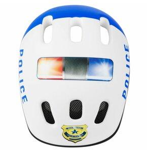 Kask rowerowy SPOKEY Police Biały dla Dzieci (rozmiar 49-56)
