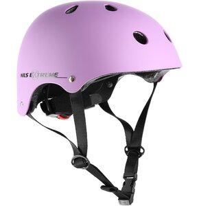 Kask rowerowy NILS EXTREME MTV12 Różowy (rozmiar S)
