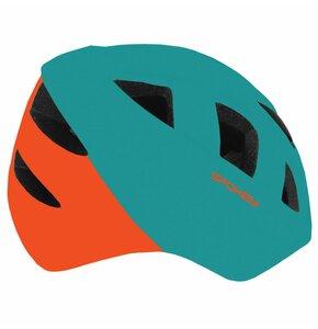 Kask rowerowy SPOKEY Cherub Zielono-czerwony (rozmiar 44-48)