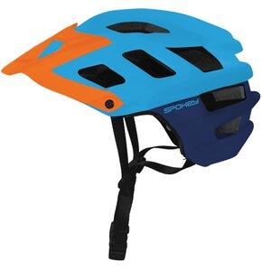Kask rowerowy SPOKEY Singletrail Niebiesko-pomarańczowy (rozmiar 58-61)