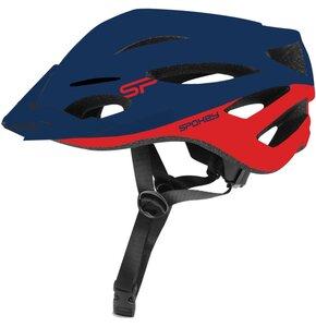 Kask rowerowy SPOKEY Spectro Granatowo-czerwony (rozmiar 55-58)