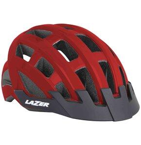 Kask rowerowy LAZER Compact Czerwony MTB (rozmiar 54 - 61)