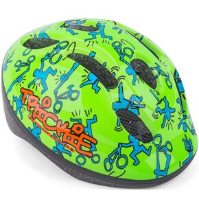 Kask rowerowy AUTHOR BICYCLES Trickie Zielono-niebieski dla Dzieci (rozmiar 49-56 cm)