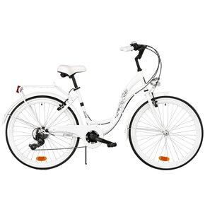 Rower miejski DAWSTAR Citybike S6B 26 cali damski Biały