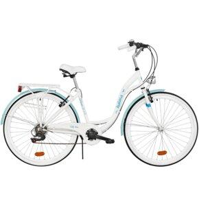 Rower miejski INDIANA Moena 6B 28 cali damski Biały Lazur