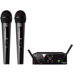 Zestaw bezprzewodowy AKG WMS40 US25 B/D z dwoma mikrofonami