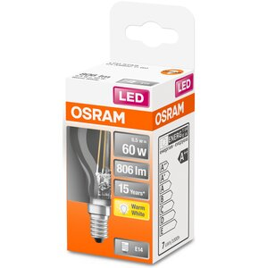 Żarówka LED OSRAM STAR CL P FIL 60 NON-DIM 6.5W E14