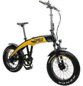 Rower elektryczny DUCATI Scrambler SCR-E M17 20 cali męski Czarno-żółty