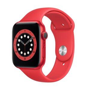 APPLE Watch 6 Cellular 44mm (Czerwony z opaską sportową w kolorze czerwonym)