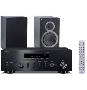 Zestaw stereo YAMAHA R-N602 + ELAC Debut B6 Czarny