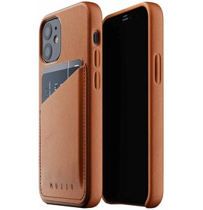 Etui MUJJO Full Leather Wallet Case do Apple iPhone 12 Mini Brązowy