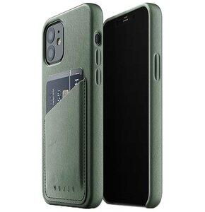 Etui MUJJO Full Leather Wallet Case do Apple iPhone 12/12 Pro Zielony