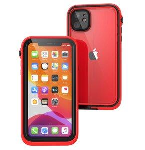 Etui CATALYST Waterproof do Apple iPhone 11 Czerwono-czarny