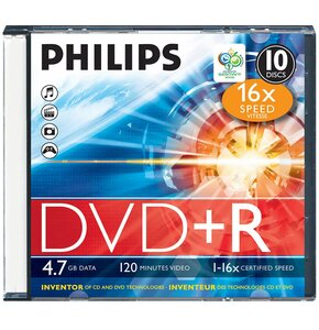 Płyta PHILIPS  DVD+R 4.7 GB Slim 1 sztuka