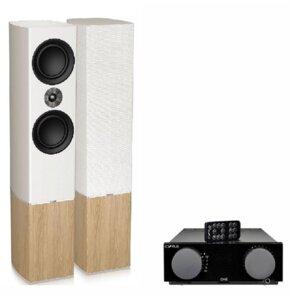 Zestaw stereo CYRUS One Czarny + TANNOY Platinum F6 Biały