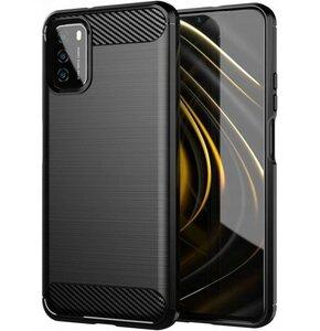 Etui TECH-PROTECT TPUCarbon do Xiaomi Poco M3 Czarny