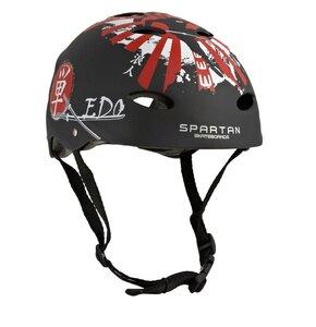Kask rowerowy SPARTAN Fire Czarny dla Dzieci (rozmiar M)