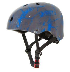Kask rowerowy BEST SPORTING Skate Szaro-niebieski dla dzieci (rozmiar S)