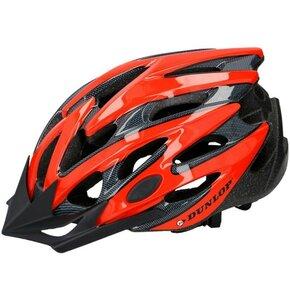 Kask rowerowy DUNLOP 273029 Czerwono-czarny MTB (rozmiar S)