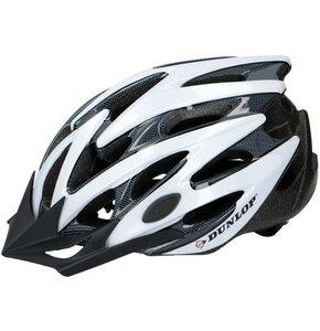 Kask rowerowy DUNLOP 273012 Biało-czarny MTB (rozmiar L)