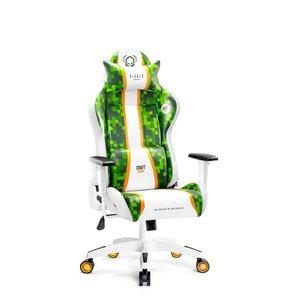 Fotel DIABLO X-ONE Craft (KIDS) Biało-zielony