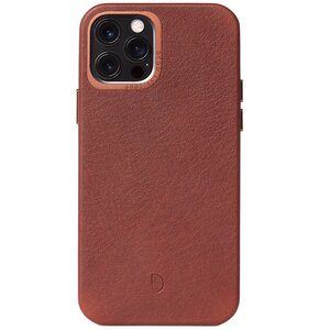 Etui DECODED Skórzane z MagSafe do Apple iPhone 12 Pro Max Brązowy