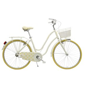 Rower miejski z koszykiem MBM 910 Mima 1B 26 cali damski Żółty
