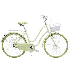 Rower miejski z koszykiem MBM 910 Mima 1B 26 cali damski Limonkowy