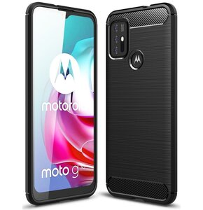Etui TECH-PROTECT TPUCarbon do Motorola Moto G10/G30 Czarny