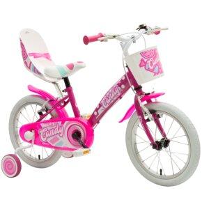 Rower dziecięcy MBM Candy 16 cali dla dziewczynki Fuksja