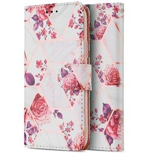 Etui TECH-PROTECT Wallet do Samsung Galaxy A32 LTE Kwiatowy różowy