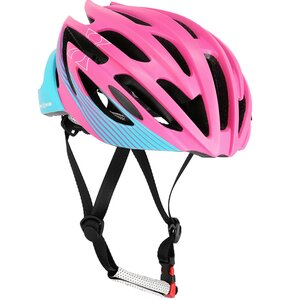 Kask rowerowy NILS EXTREME MTW24 Fioletowo-niebieski MTB (rozmiar M)