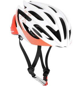 Kask rowerowy NILS EXTREME MTW24 Biało-czerwony MTB (rozmiar M)
